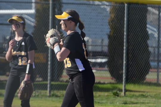 Enterprise pitcher Shelby Keltner (15) prepares to throw.