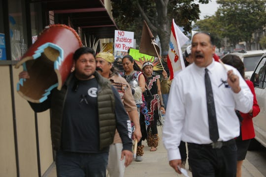 On  March 19, Salinas residents protest the death of Brenda Mendoza who was shot by police on March 1.