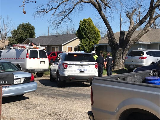 San Angelo police investigate a possible shooting Tuesday, March 19, 2019.