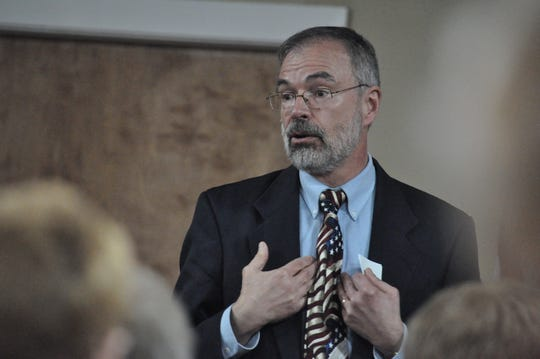 U.S. Rep. Andy Harris, R-Md., speaks to attendees at his Wicomico County town hall on March 18, 2019 in Fruitland.