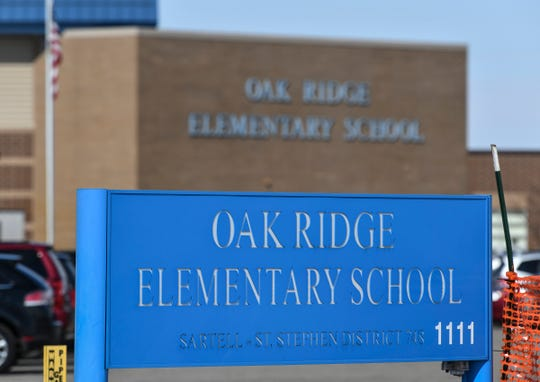 Oak Ridge Elementary School is pictured Tuesday, March 19, in Sartell.