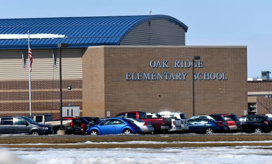 Oak Ridge Elementary School is pictured Tuesday, March 19, in Sartell. The Sartell-St. Stephen school district plans to make changes in assigning students to schools in the 2020-21 school year.