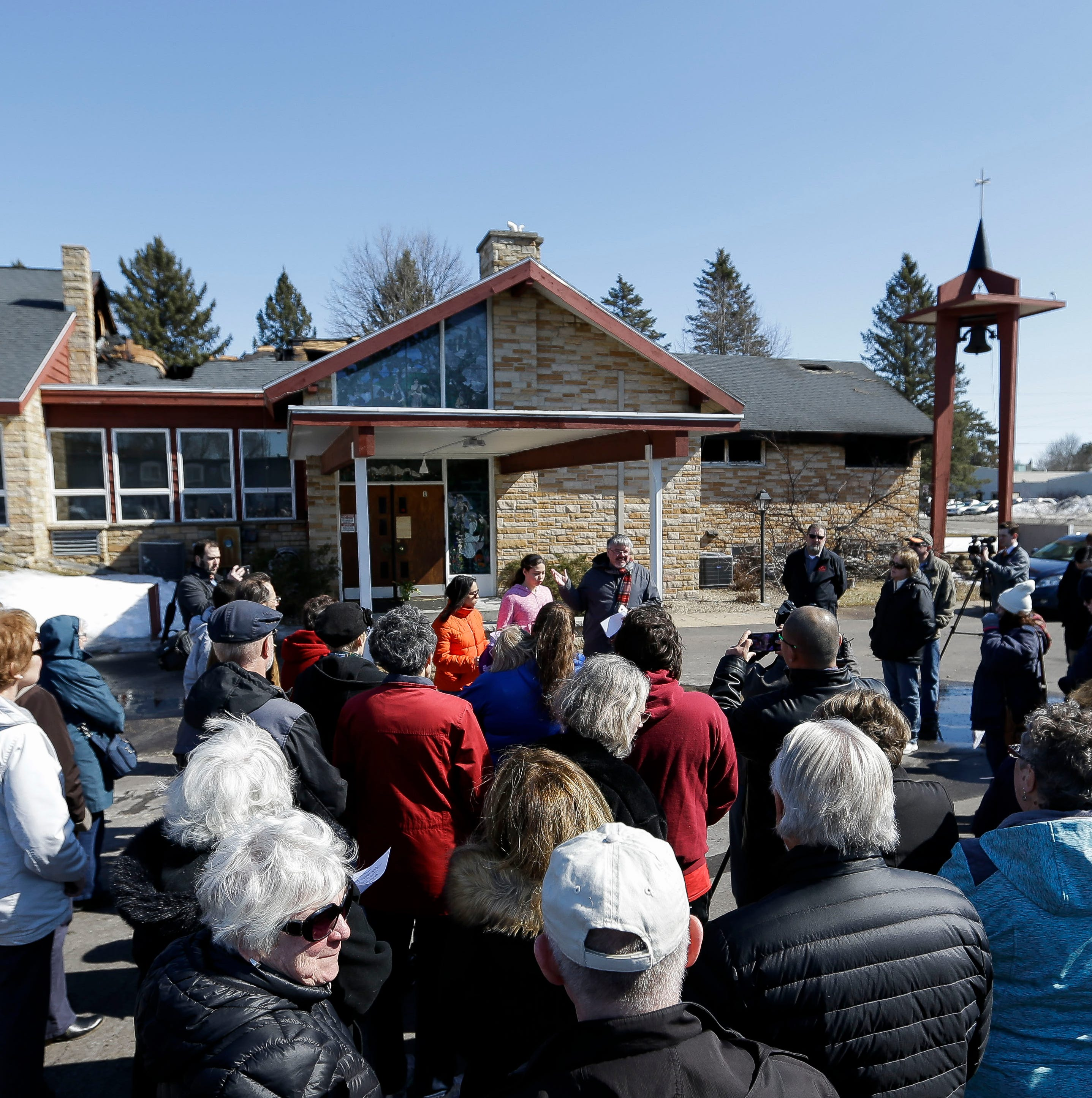 """""""It's devastating"""": Community members come together after fire ravages Plover church"""