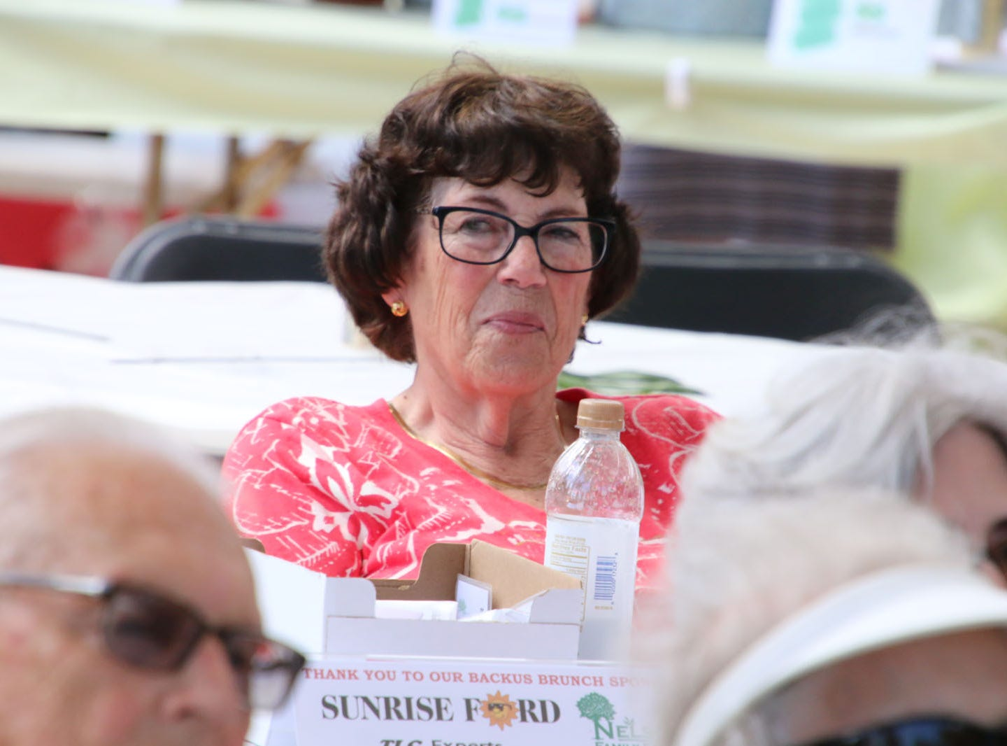 """Cleo Stern, chair of the Board of Associates, at the Backus Brunch at  A.E. """"Bean"""" Backus Museum & Gallery."""