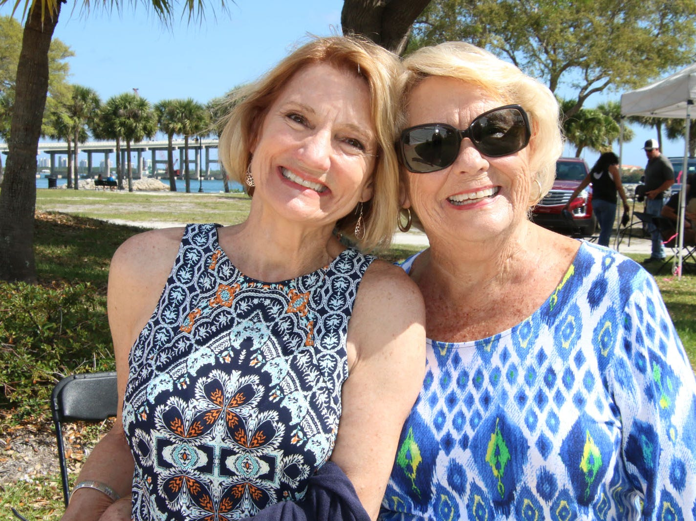 """Patricia Carlton, left, and Pat Donaldson at the 23rd annual Backus Brunch at  A.E. """"Bean"""" Backus Museum & Gallery."""
