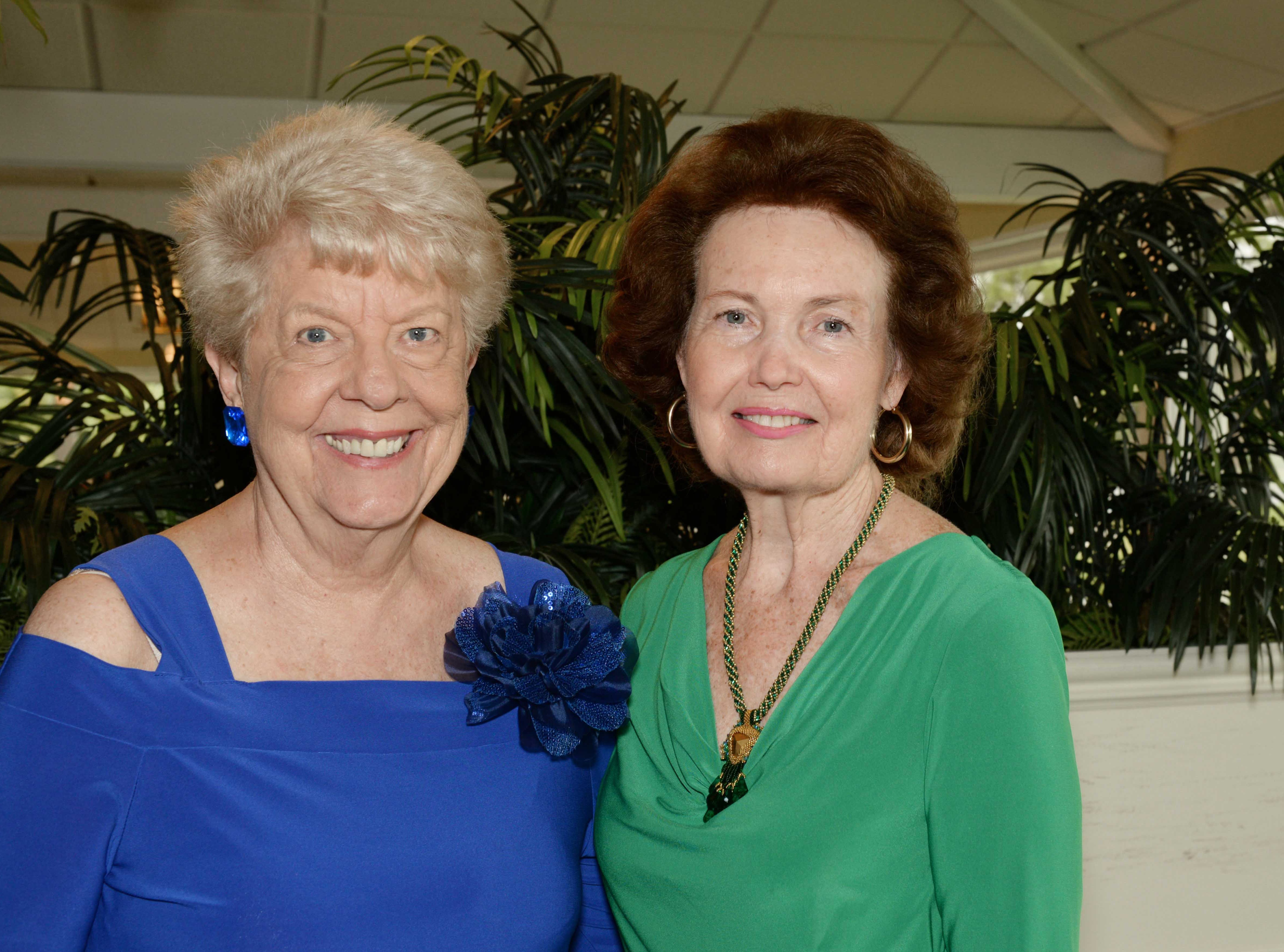 Thelma Isaksen, left, and Betty Mulligan at the 45th anniversary party of the American Association of University Women Stuart Branch.