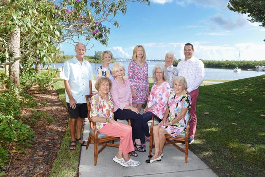 Sandhill CoveRetirement Living Art Sale and Show Committee members and staff, from left, back row, Geoff Falbey, Kathy Garlington, Jill Burton, Pat Morgan and Shawn Perrigo; seated, Bobbie Spilman, Joy Funston, Jennie Falbey and Sherry Corbett.