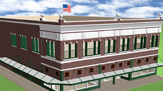 This is a rendering of what the former J.C. Penney's store building in Downtown El Paso will look like with the exterior restored to its former glory.