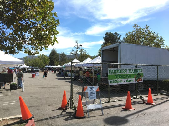 The Thousand Oaks farmers market on March 28 will return to its parking-lot site at The Oaks shopping center.