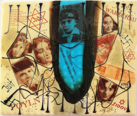 Artist Frances Elson's exhibit Broken: A Holocaust History in Fused Glass is on display through April 27 at the Museum of Ventura County in Ventura.