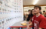 Vineland High School junior Anthony Jimenez talks about the 150th anniversary of the creation of the Periodic Table during a special event on Tuesday, March 19, 2019.