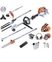 After cutting the hole, five subjects walked in and swiped roughly $20,000 worth of Stihl Power equipment.