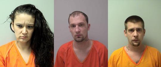 From left: Crystal Taylor, Jordan Skar, Tyler Perkins