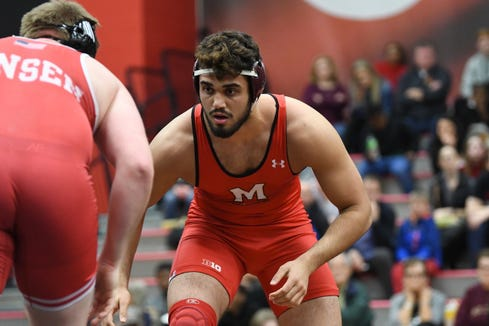 Mamaroneck native Youssif Hemida is a senior wrestler for the University of Maryland.