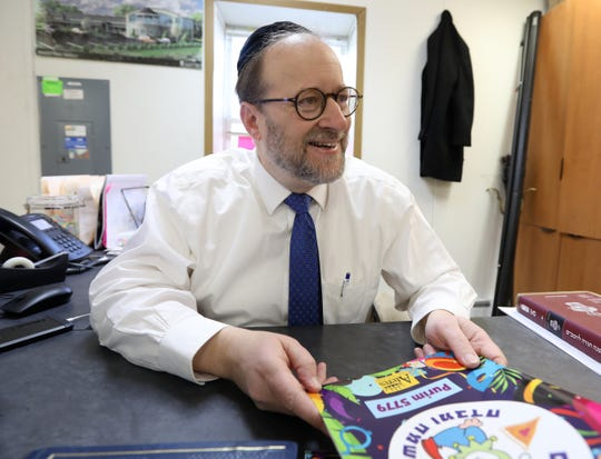 Rabbi Aaron Fink, Dean of Ateres Bais Yaacov Academy in New Hempstead March 18, 2019.