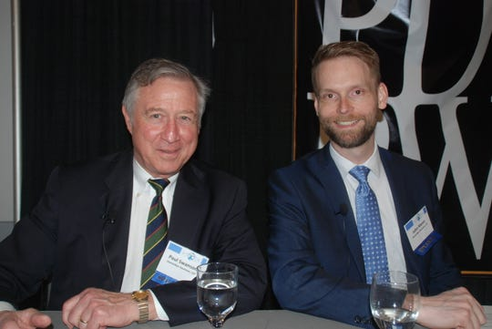 Attorneys Paul Swanson (left) and John Menn, spoke to farmers at PDPW's annual business conference in Madison, offering advice for farmers who want to restructure debt or file for court protection.