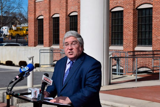 West Virginia Attorney General Patrick Morrisey, seen here in a file photo, has announced a lawsuit against the Diocese of Wheeling-Charleston for allegedly failing to protect children from sex abuse by priests.