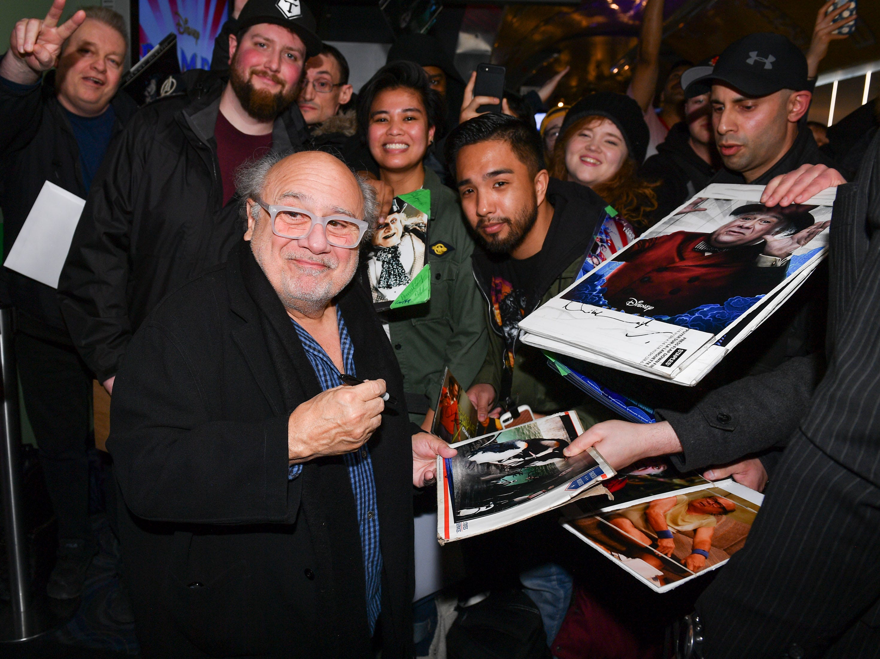 TORONTO, ONTARIO - MARCH 18:  Actor Danny DeVito attends the 'Dumbo' Canadian Premiere held at Scotiabank Theatre on March 18, 2019 in Toronto, Canada. (Photo by George Pimentel/Getty Images for Disney Studios) ORG XMIT: 775303012 ORIG FILE ID: 1136700937