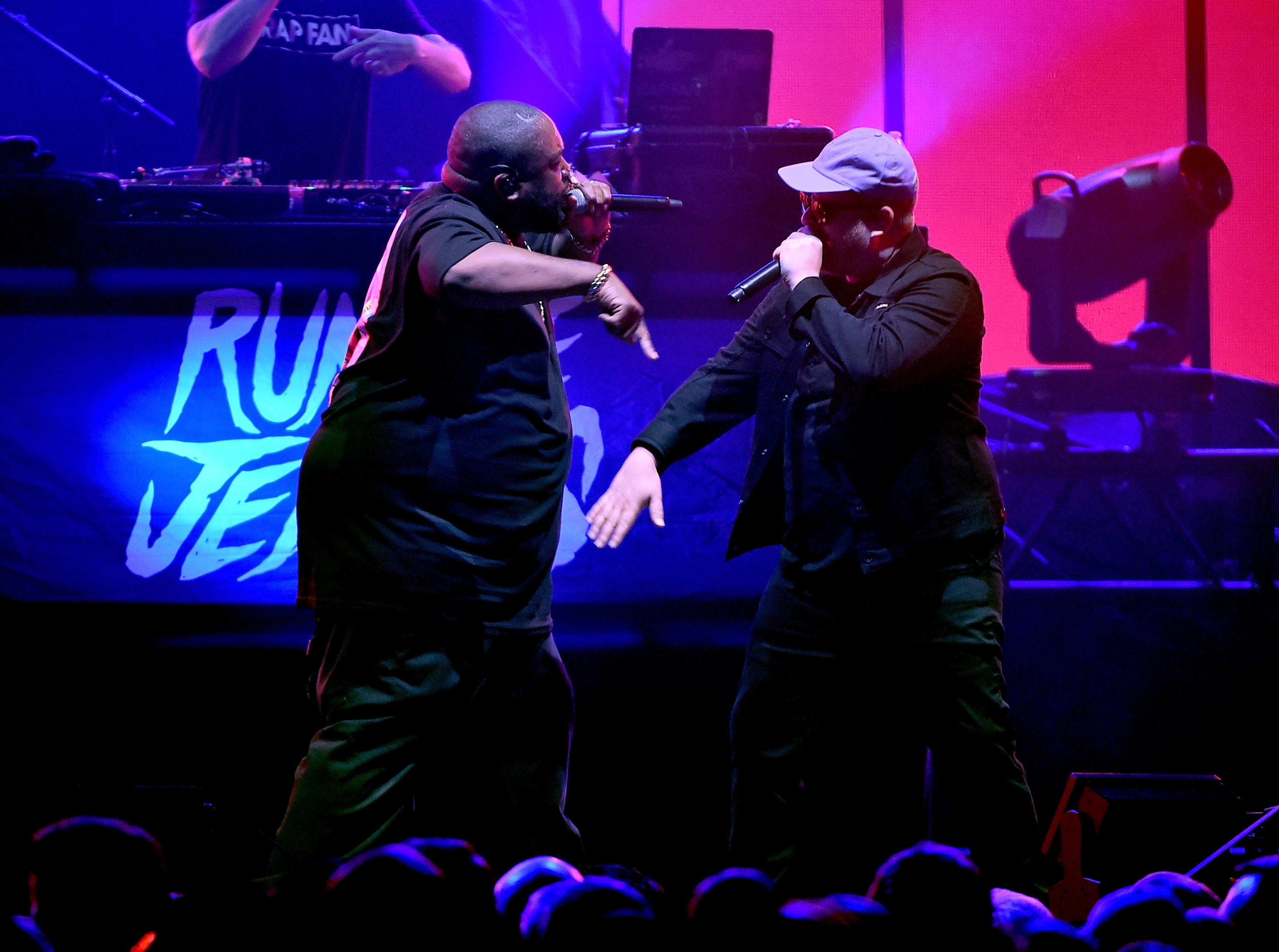 ATLANTA, GA - FEBRUARY 02:  Killer Mike and El-P of Run the Jewels perform onstage at DIRECTV Super Saturday Night 2019 at Atlantic Station on February 2, 2019 in Atlanta, Georgia.  (Photo by Theo Wargo/Getty Images for DIRECTV) ORG XMIT: 775270904 ORIG FILE ID: 1093235266