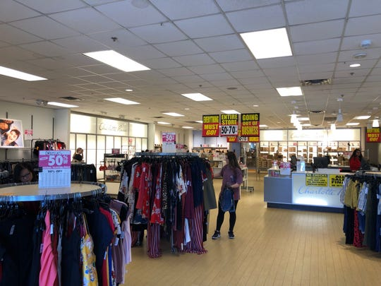 Discounts were up to 70 percent off at most Charlotte Russe stores.