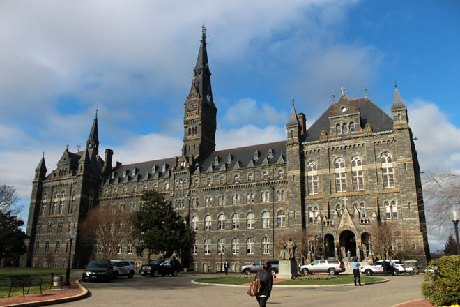 Washington, D.C.: Healy Hall at Georgetown University is recognized as a National Historic Landmark.