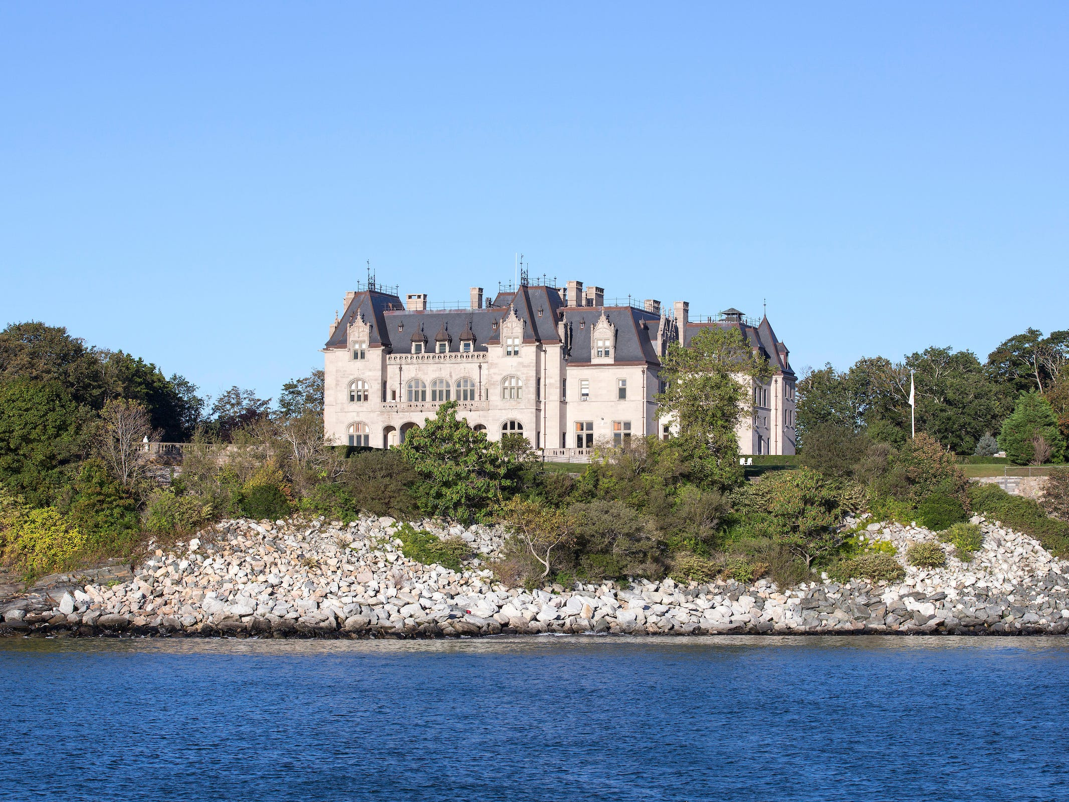 Rhode Island: Situated along historic Newport's famed Cliff Walk, Ochre Court is Salve Regina University's main administration building.
