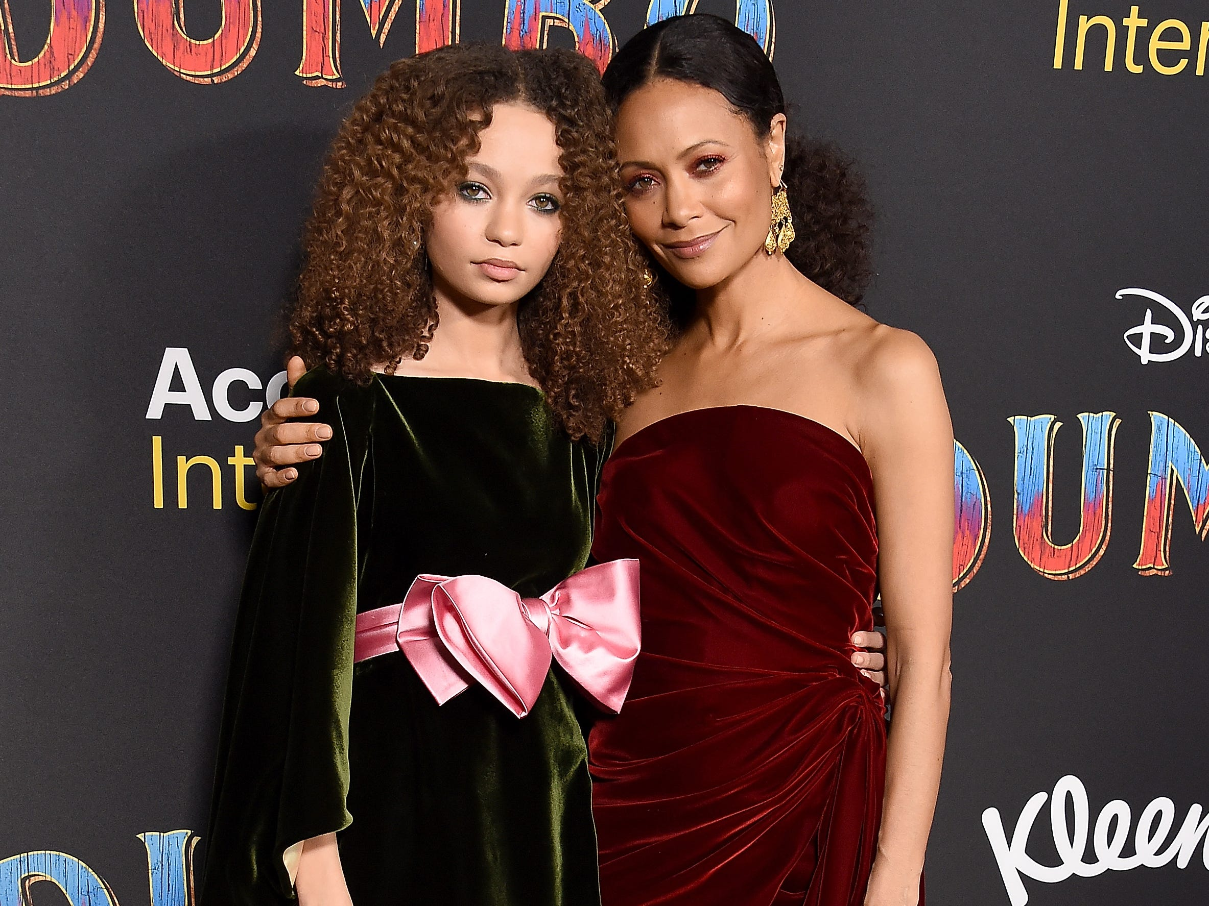 "This time around, ""Westworld"" star Thandie Newton was the plus-on on the red carpet, accompanying daughter Nico, who  makes her film debut in ""Dumbo."""