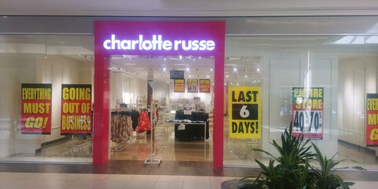 Nearly 70 Charlotte Russe stores are expected to close March 24.