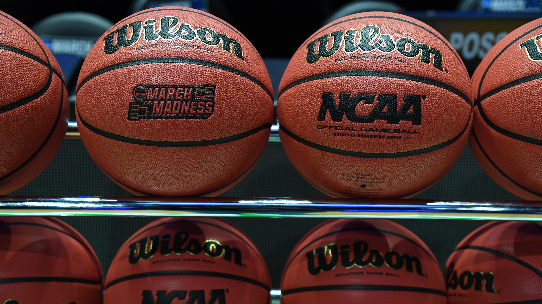 General view college basketballs.