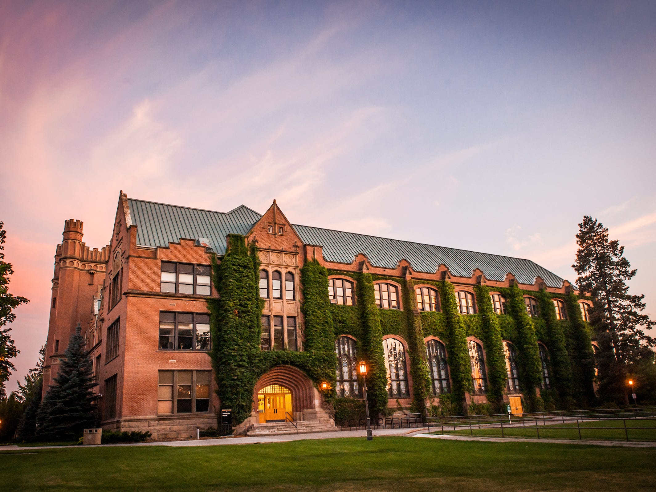 Idaho: The stained glass windows and Tudor-style archways in the University of Idaho's historic Administration Building only add to its charm.