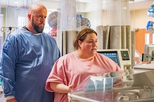 "Chris Sullivan as Toby Damon and Chrissy Metz as Kate Pearson on ""This Is Us."""