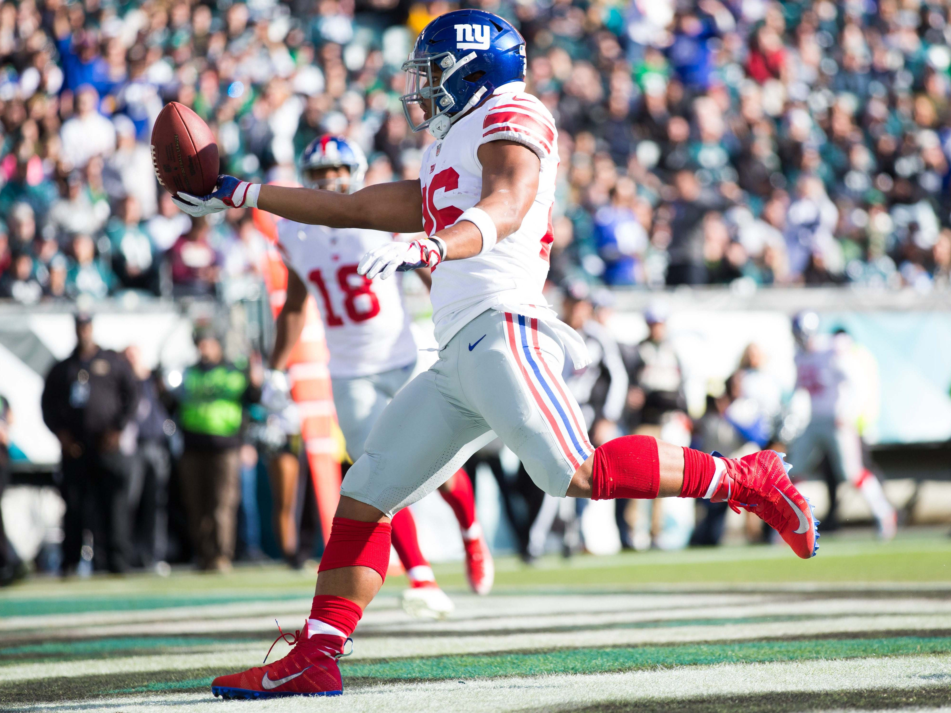 29. Giants (25): Amid OBJ, Eli handwringing, defensive deterioration has gone largely unnoticed. Fair to worry if Saquon Barkley's prime will be squandered.