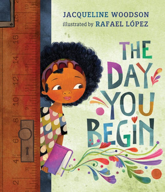 Author Jacqueline Woodson comforts young children who feel out of place in this lyrical tale.