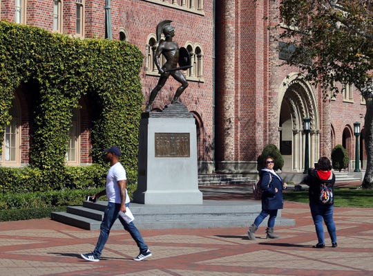 The campus of the University of Southern California in Los Angeles, one of several colleges that is connected to the nation's largest college admissions bribery scheme.