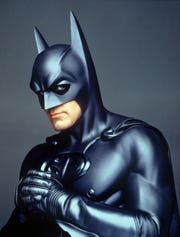 "Remember the bat nipples? George Clooney played the Caped Crusader in 1997's ""Batman & Robin."""