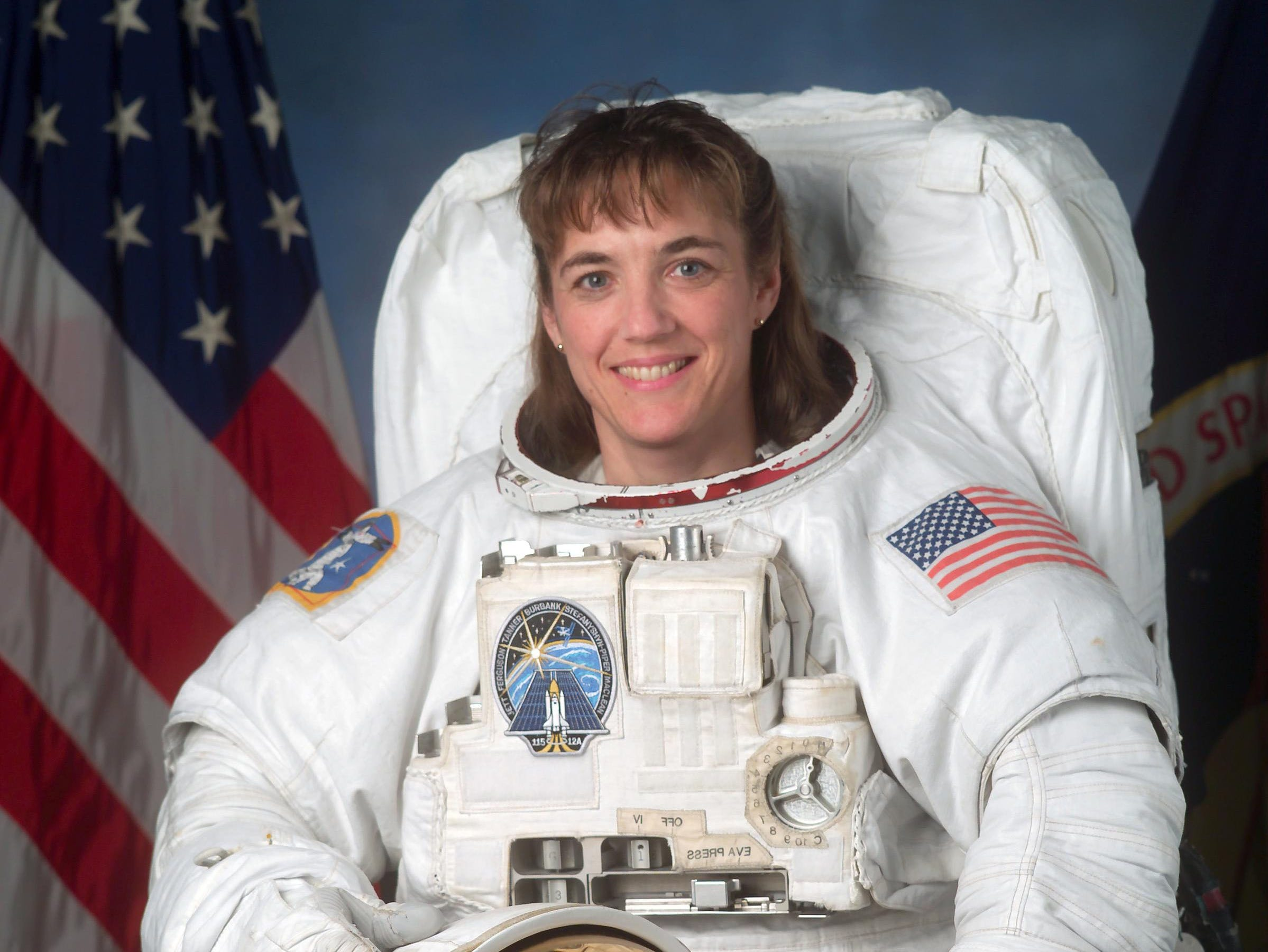 Astronaut Heidemarie Stefanyshyn-Piper made history as the first Minnesota woman to go into space. On Sunday, Aug. 27, 2006, the 43-year-old St. Paul native will blast off with five other crew members aboard the shuttle Atlantis to resume construction of the International Space Station.