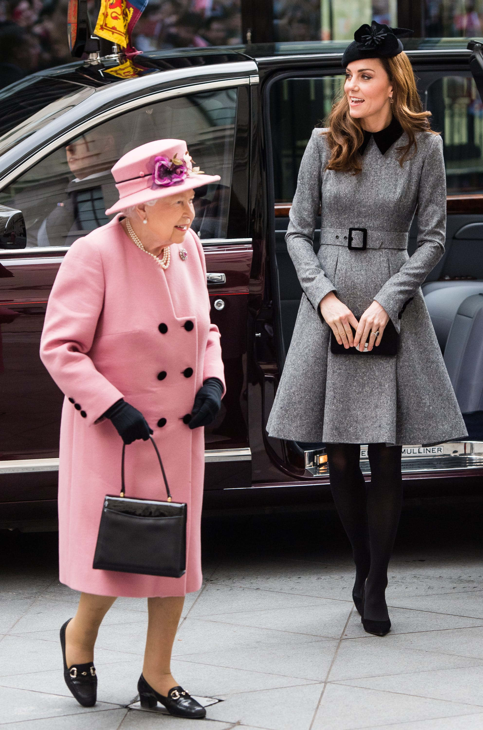Duchess Kate steps out with Queen Elizabeth at King's College London