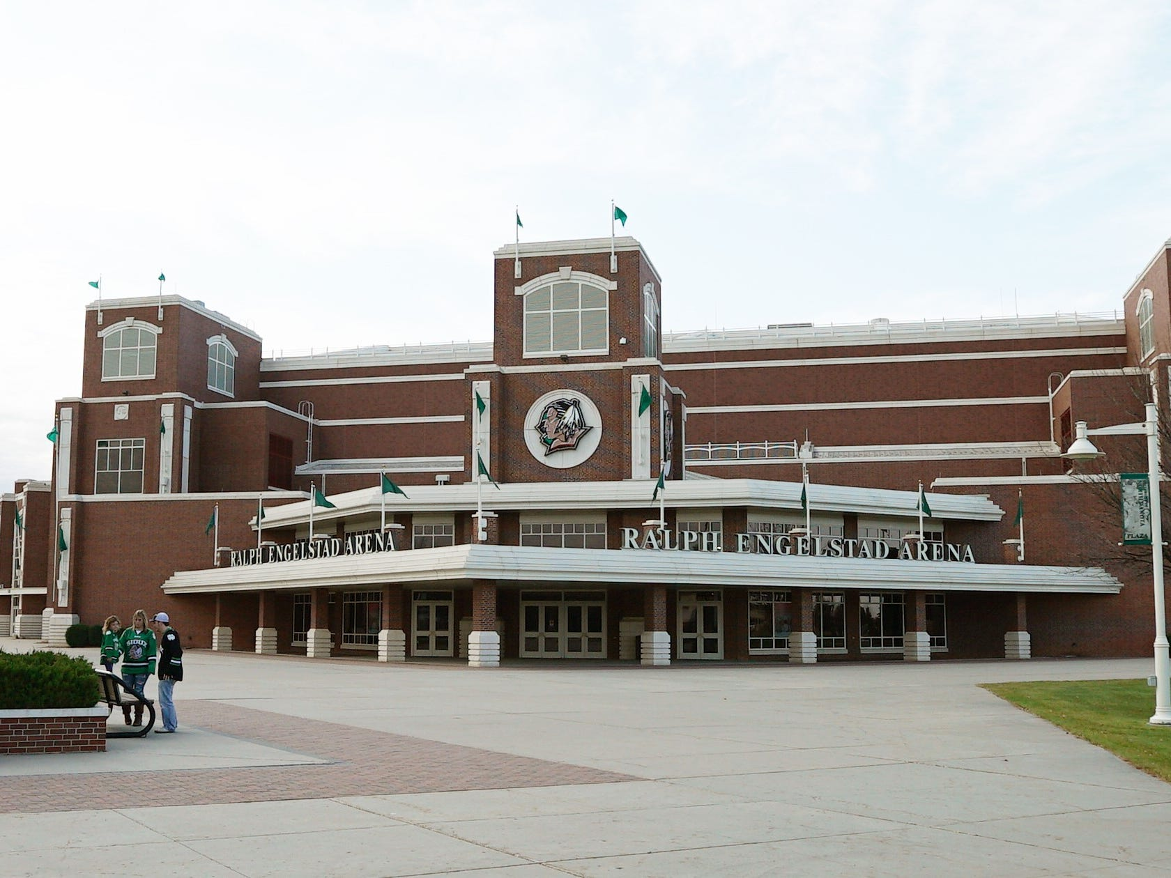 North Dakota: The Ralph Engelstad Arena on the University of North Dakota campus is home to the UND hockey team.
