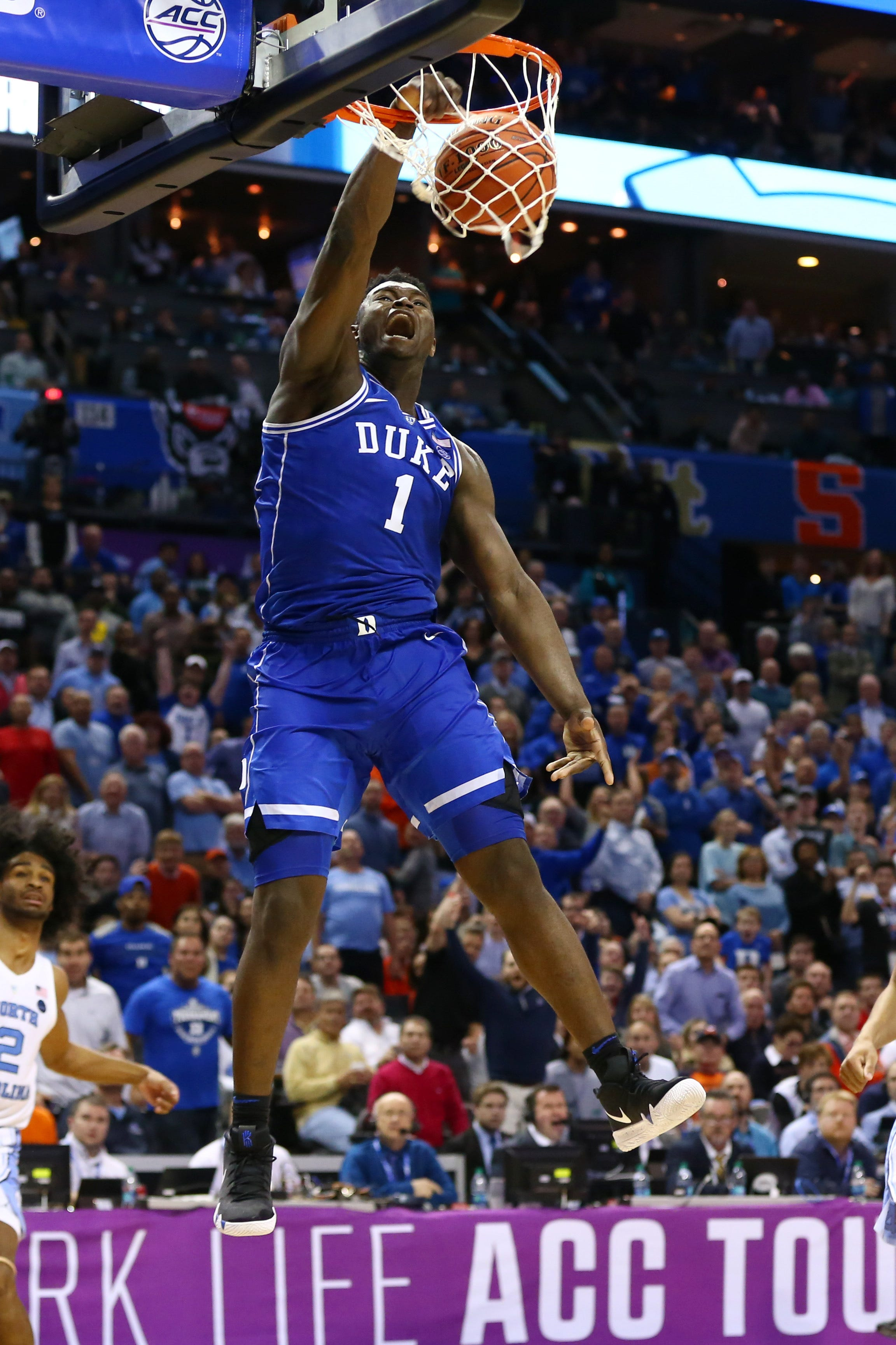 Zion Williamson helped lead Duke to the ACC tournament title after returning from a knee injury.