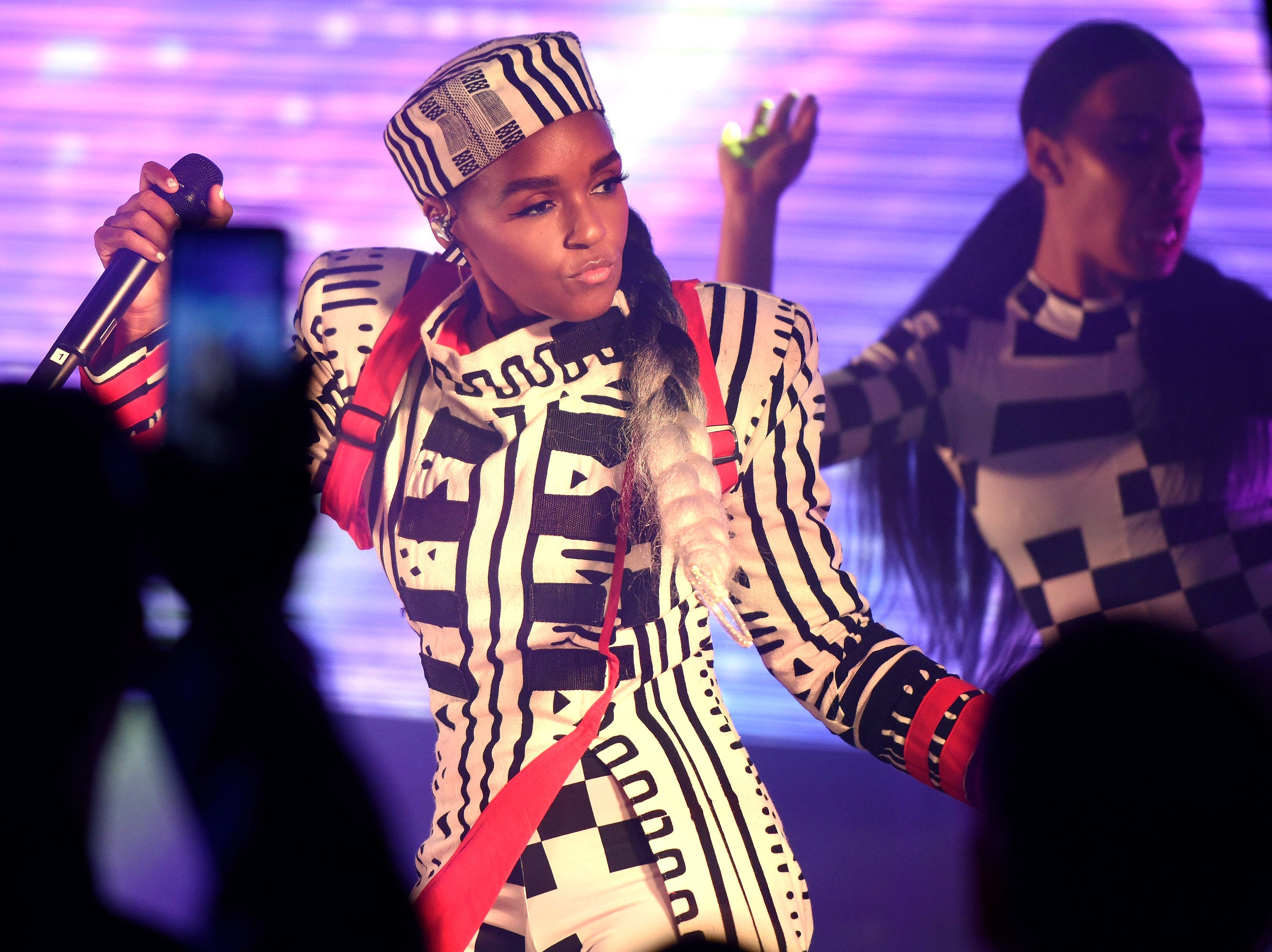 CHARLOTTE, NC - FEBRUARY 17: Janelle Monae performs at the AT&T Pre Game Concert leading in to NBA All-Star on Sunday, February 17, 2019 at EpiCentre Theater in Charlotte, North Carolina. (Photo by Lance King/Getty Images for AT&T) ORG XMIT: 775299401 ORIG FILE ID: 1130408170