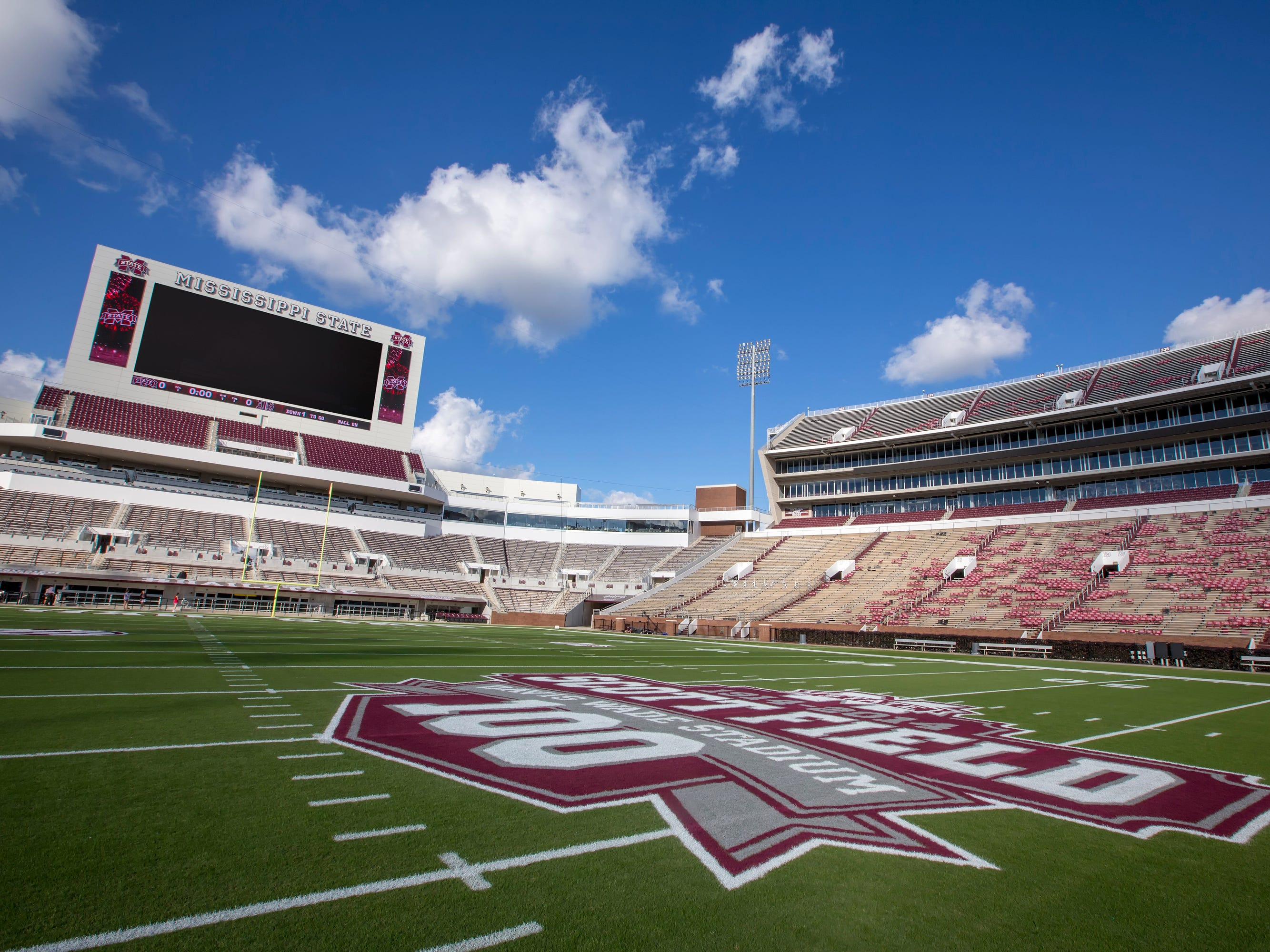 Mississippi: Mississippi State University's Davis Wade Stadium features modern elements while still complementing the campus' historic architecture.