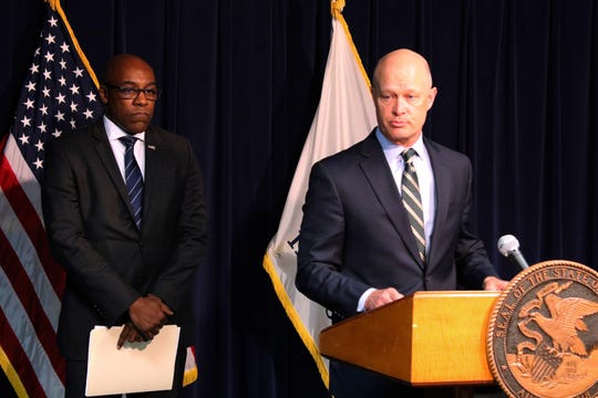 Special prosecutor Joseph McMahon, right, and Attorney General Kwame Raoul speak during a news conference on Feb. 11, 2019, in Chicago.