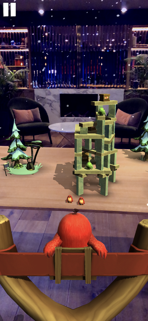 Angry Birds heads into augmented reality on the iPhone.