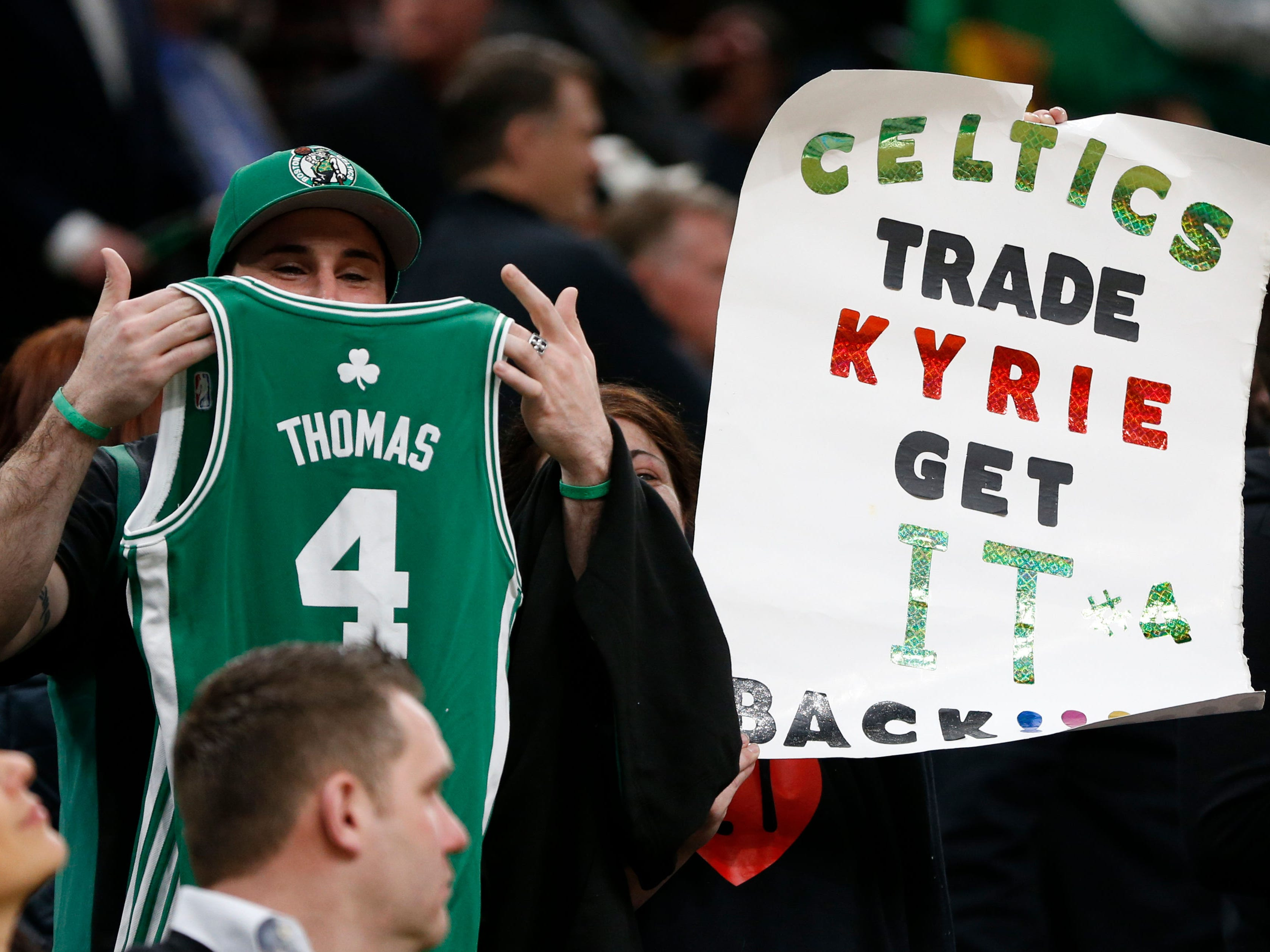 March 18: Boston fans welcomed back Isaiah Thomas for his game at TD Garden since being traded by the Celtics before last season.