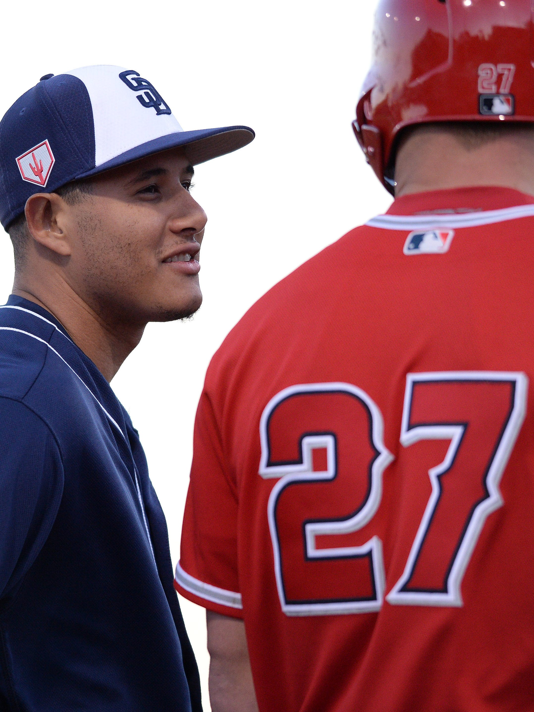 Both Manny Macahdo and Mike Trout will be among the highest-paid players for the next several seasons.