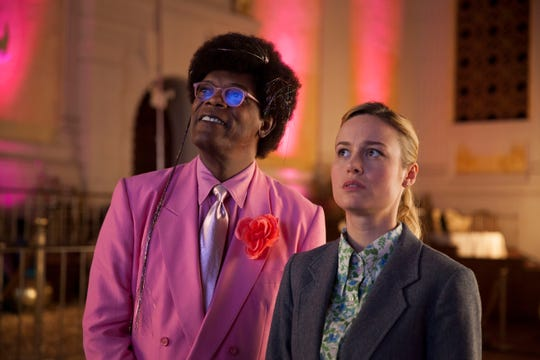 Samuel L. Jackson, left, and Brie Larson star in the April Netflix film, 'Unicorn Store.'