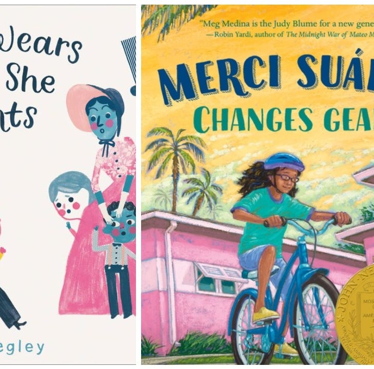 """Mary Wears What She Wants"" and Merci Suarez Changes Gears"" are two tales that reflect diversity in children's books."