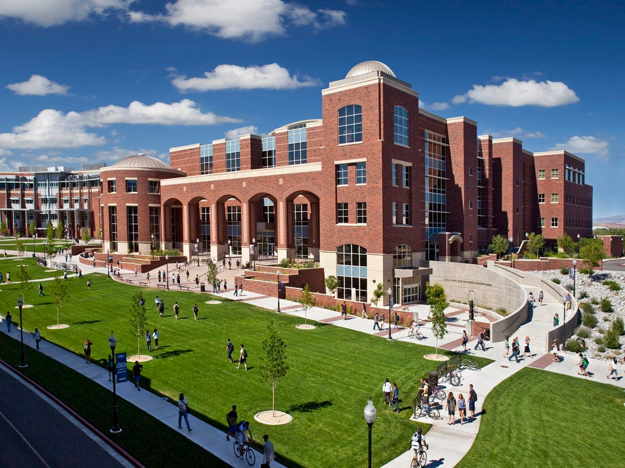 Nevada: The Mathewson-IGT Knowledge Center on the University of Nevada, Reno campus is a gathering spot for many.