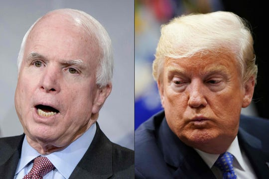 John McCain and Donald Trump