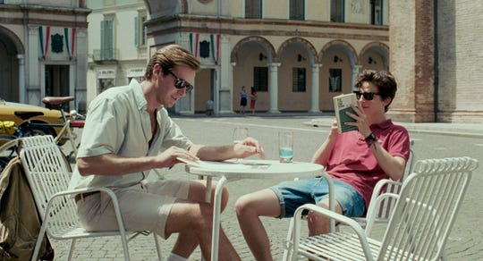 "Armie Hammer co-starred with Timothee Chalamet in 2017's Oscar-nominated gay romance ""Call Me By Your Name."""